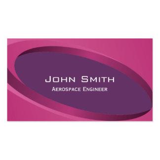 Modern Purple Aerospace Engineer Business Card