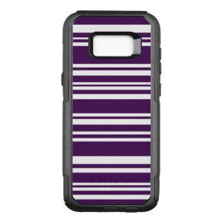 Modern Purple and White Stripes OtterBox Commuter Samsung Galaxy S8+ Case