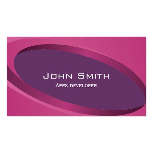 Modern Purple Apps developer Business Card