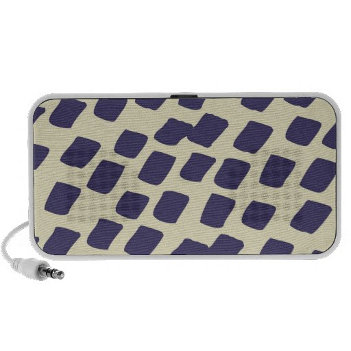 Modern Purple Blue Abstract Squares Wild Animal Travelling Speakers