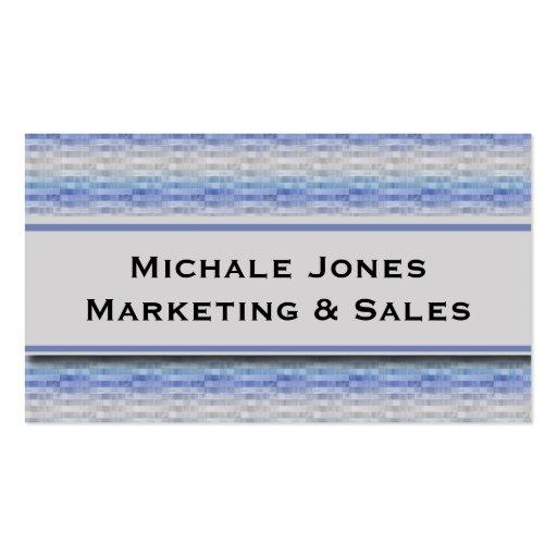 Modern Purple Blue Gray Squares Business Card Temp