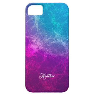 Modern Purple & Blue Ombre Polygonal Background 4 iPhone 5 Case