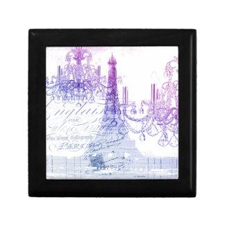 modern purple chandelier paris eiffel tower small square gift box