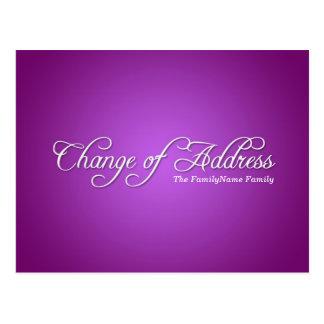 Modern Purple Change of Address Postcard