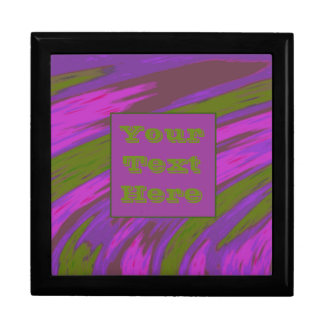 Modern Purple chartreuse Color Swish Large Square Gift Box