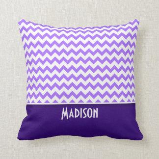 Modern Purple Chevron Throw Pillows