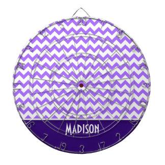 Modern Purple Chevron Dartboard