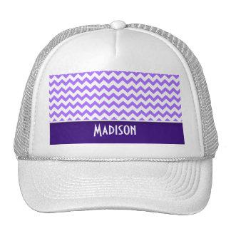 Modern Purple Chevron Mesh Hats