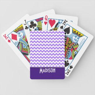 Modern Purple Chevron Poker Deck