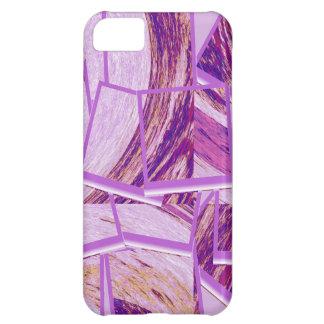 Modern purple cubism background iPhone 5C cases