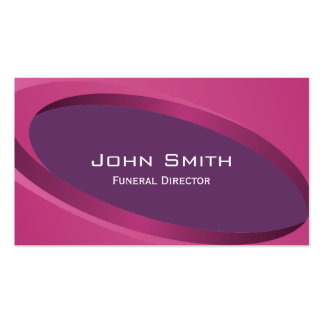 Modern Purple Curves Funeral Business Card
