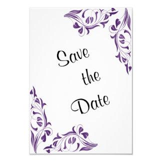 Modern Purple Floral 9 Cm X 13 Cm Invitation Card