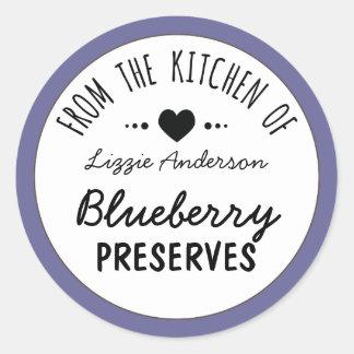 Modern Purple From the Kitchen of Label Round Sticker
