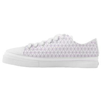 Modern Purple geometric triangle shoe Printed Shoes