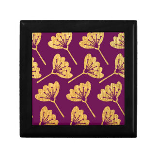 Modern Purple & Gold Florals Gift Box
