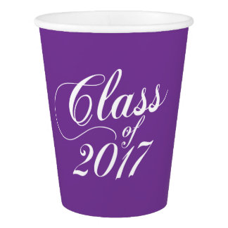 Modern Purple | Graduation Paper Cup