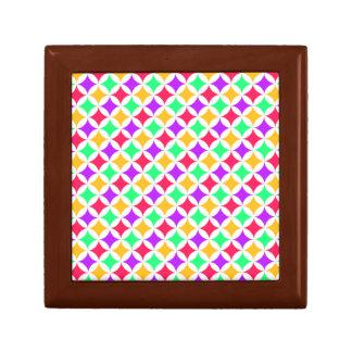 Modern Purple Green and Orange Geometric Pattern Gift Box