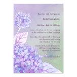 Modern Purple Hydrangeas Formal Floral Wedding Custom Announcements