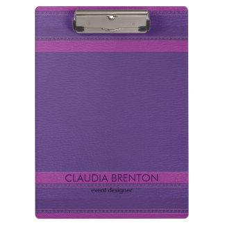 Modern Purple Leather Look Clipboard