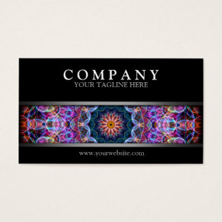 Modern Purple Lotus Business Card