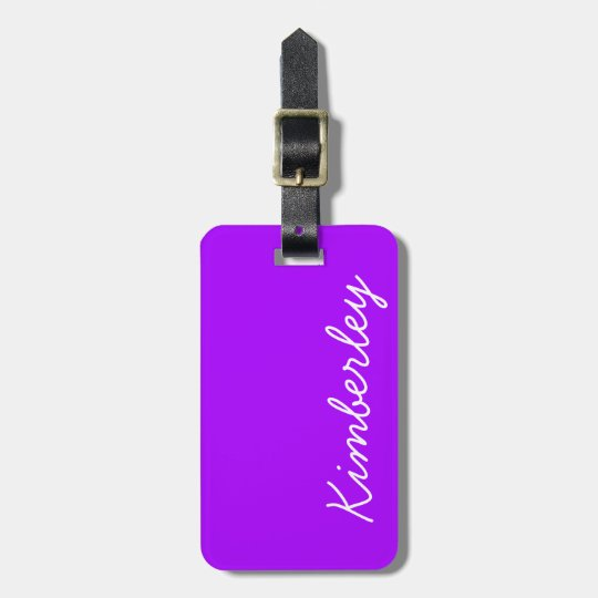 Modern Purple Neon Monogram Trendy Fashion Colours Luggage