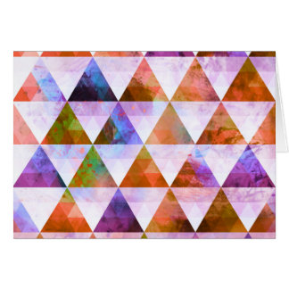 Modern Purple & Orange Geometric Triangle Design Card