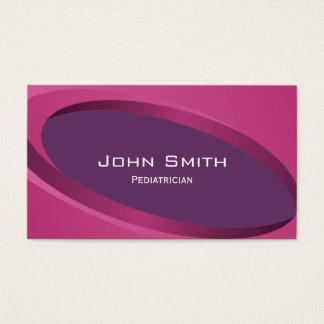 Modern Purple Pediatrician Business Card