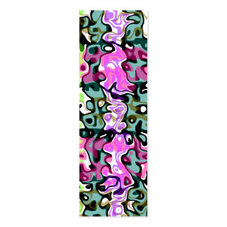 Modern purple pink green psychedelic swirls business card templates