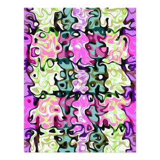 Modern purple pink green psychedelic swirls flyers