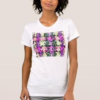 Modern purple pink green psychedelic swirls shirt