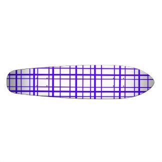 Modern purple plaid on white background skateboard decks