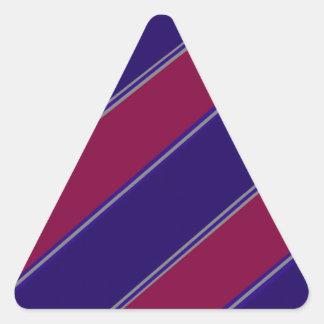 Modern purple violet diagonal stripes triangle sticker