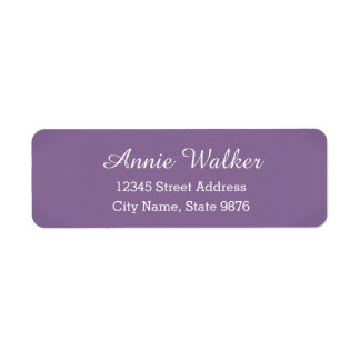 Modern -Purple Violet- Return Address Label