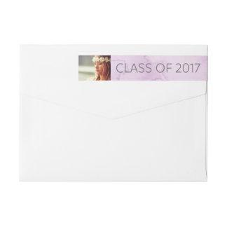 Modern Purple Watercolor | Class of 2017 Photo Wrap Around Label