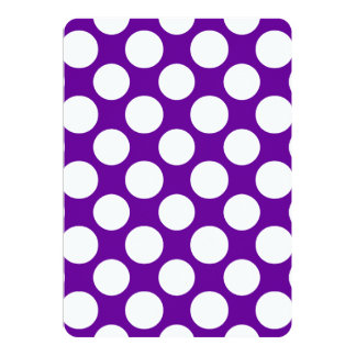Modern Purple White Polka Dots Pattern 13 Cm X 18 Cm Invitation Card