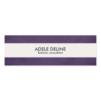 Modern Purple White Stripe Fashion Business Card Pack Of Skinny Business Cards