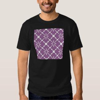 Modern purplish flower pattern t-shirts