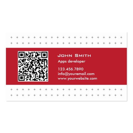 Modern QR Code Apps developer Business Card