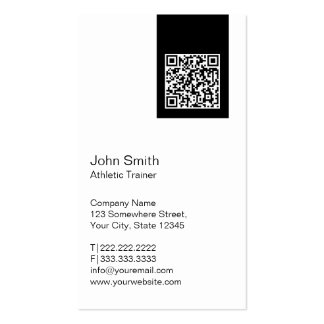 Modern QR code Athletic Trainer Business Card