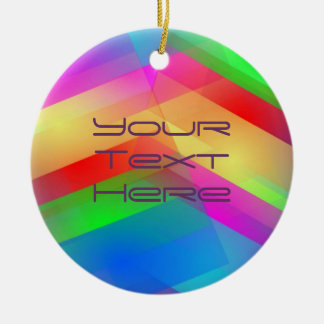 Modern Rainbow Abstract Christmas Ornament