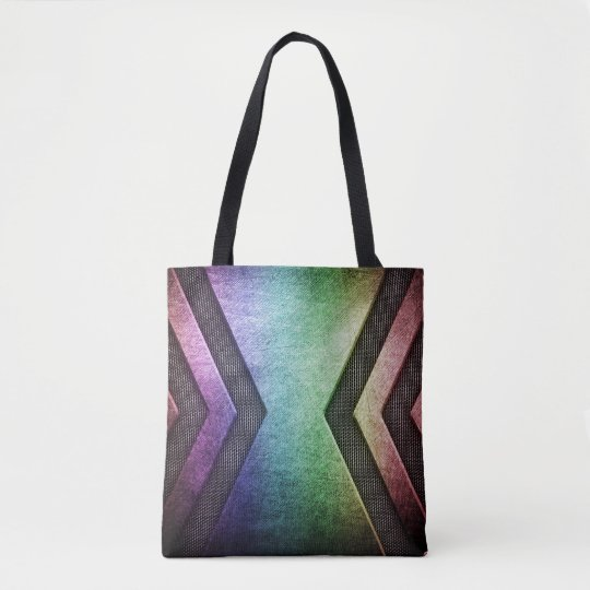 Modern Rainbow design tote bags
