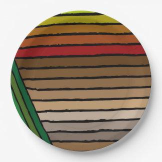 Modern Rainbow Striped Plate