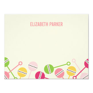 Modern Rattles Baby Shower Thank You Cards 11 Cm X 14 Cm Invitation Card