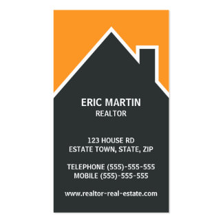 Modern real estate agent architect or realtor business card
