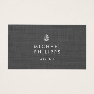 Modern Real Estate Businesscards Horizontal Gray Business Card