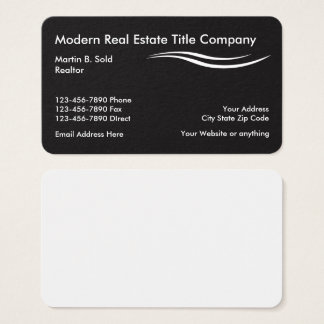 Modern Real Estate Title Company Business Card