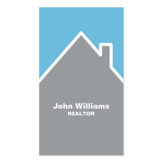 Modern realtor real estate gray blue business card