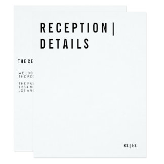 Modern Reception Card 11 Cm X 14 Cm Invitation Card