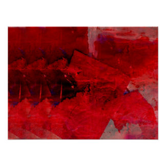 Modern Red Abstract Painting Contemporary Art Post Poster