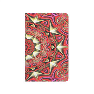 Modern Red Abstract Pattern Journal